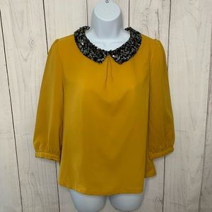 Sequined Collar Blouse